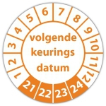 Keuringssticker Ultra Destructable volgende keuringsdatum - Keuringsstickers Ultra Destructable