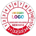 Keuringssticker Ultra Destructable gekeurd volgens NEN 1010 - Keuringsstickers Ultra Destructable logo