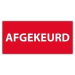 Keuringssticker Ultra Destructable afgekeurd (zonder datum) - Keuringsstickers Ultra Destructable